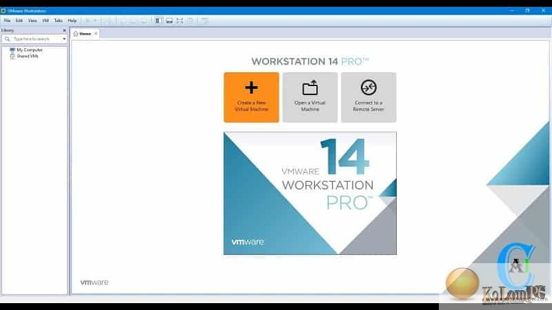 VMware Workstation Pro main