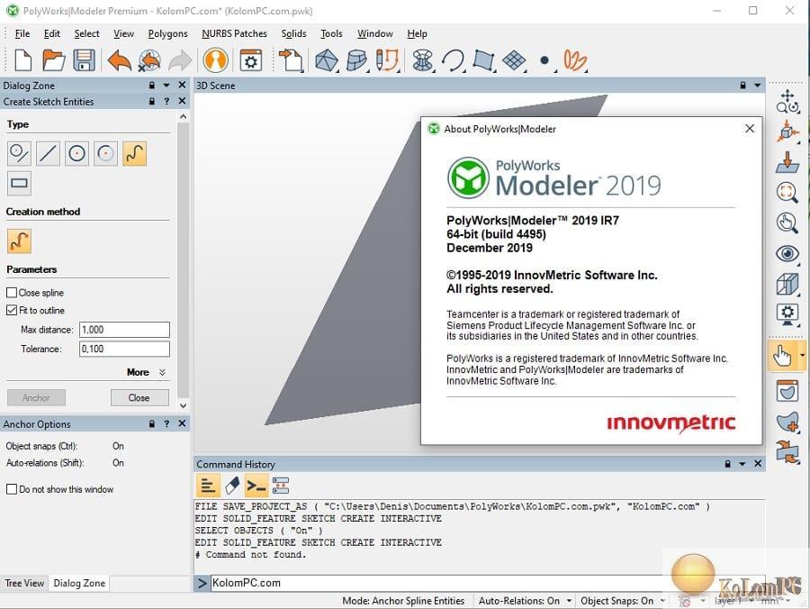 InnovMetric PolyWorks Metrology Suite settings