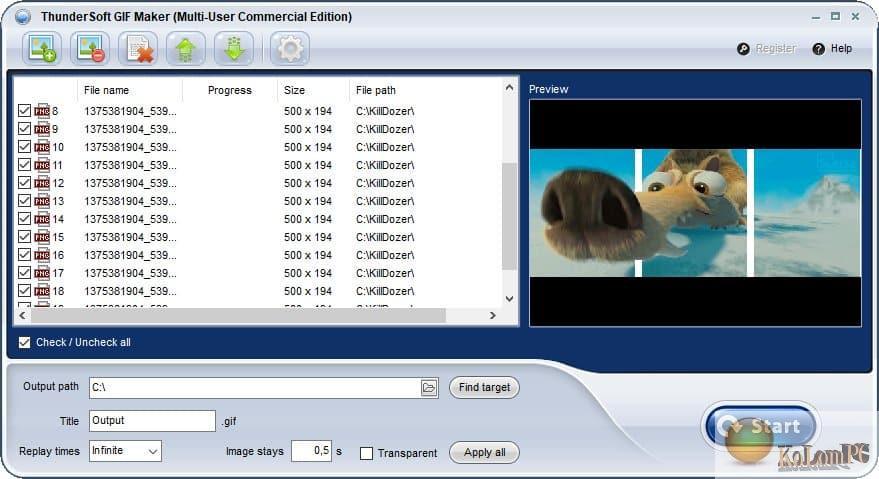 ThunderSoft-GIF-Maker settings