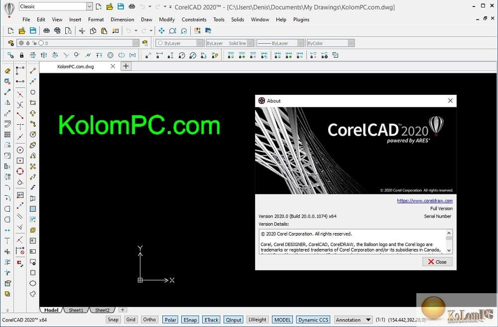 about CorelCAD