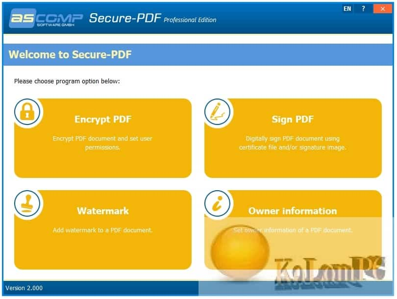 Secure-PDF Professional Edition