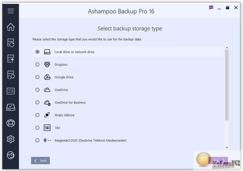 Ashampoo Backup Pro settings