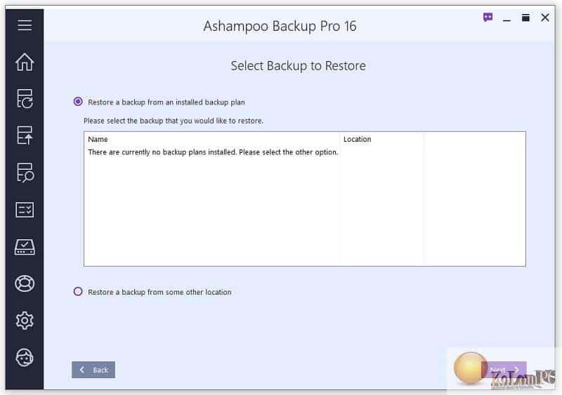 Ashampoo Backup Pro backup