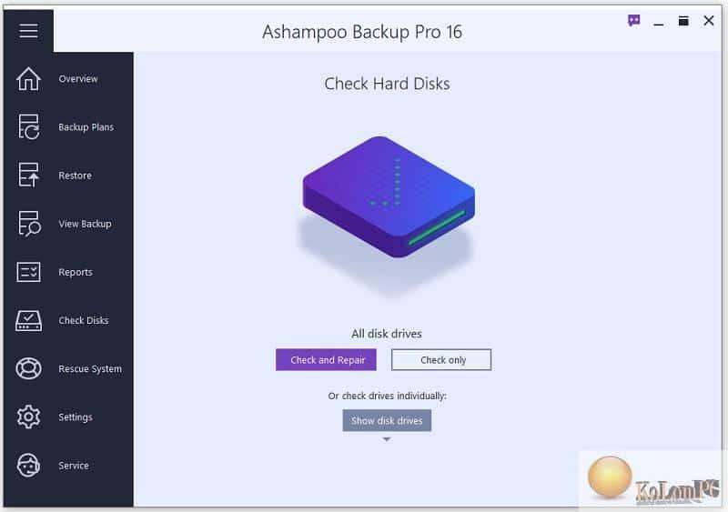 Ashampoo Backup Pro restore