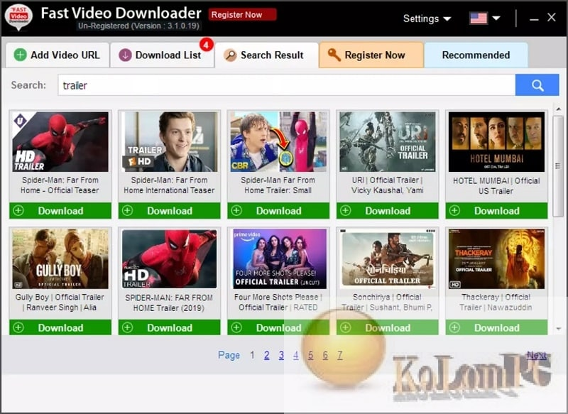 Fast Video Downloader settings