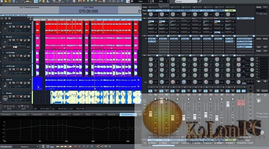 MAGIX Samplitude Music Studio settings