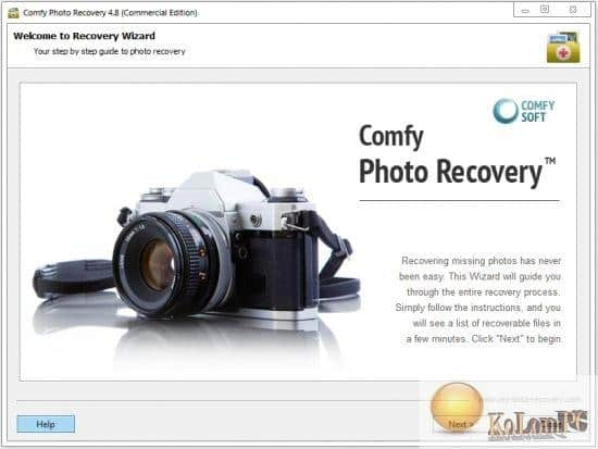 Comfy Photo Recovery settings