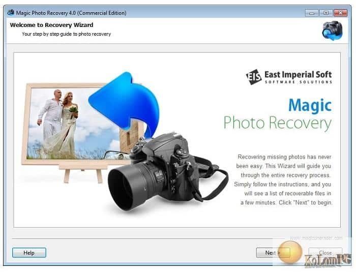 East Imperial Magic Photo Recovery  settings