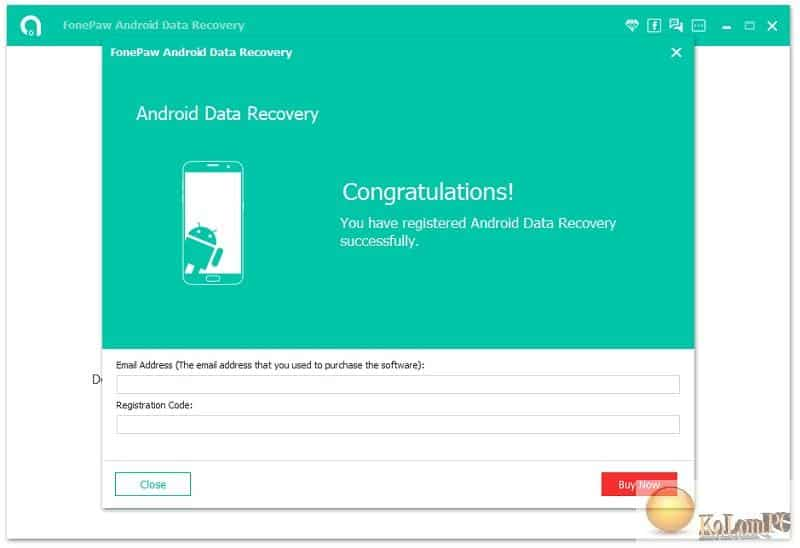 Android Data Recovery registration