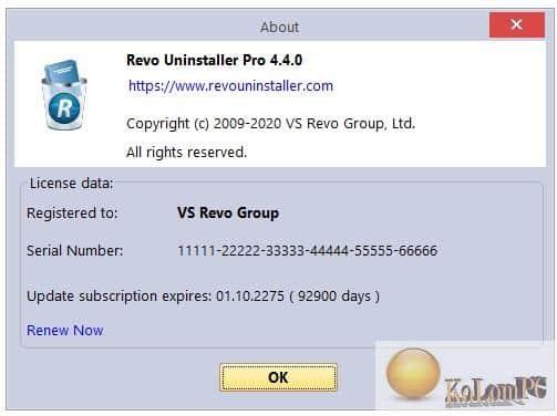 Revo Uninstaller Pro registretion