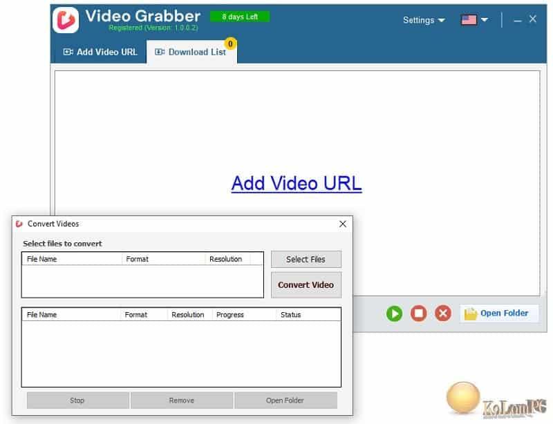 Auslogics Video Grabber converter