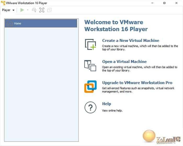 VMware Workstation Player main