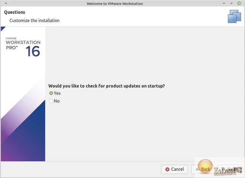 VMware Workstation Pro instalation