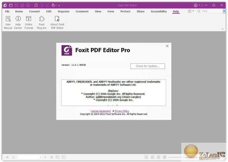 PhantomPDF Business settings