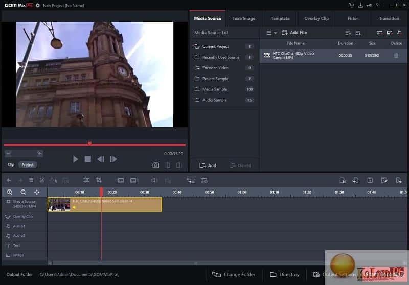 GOM Mix Pro settings