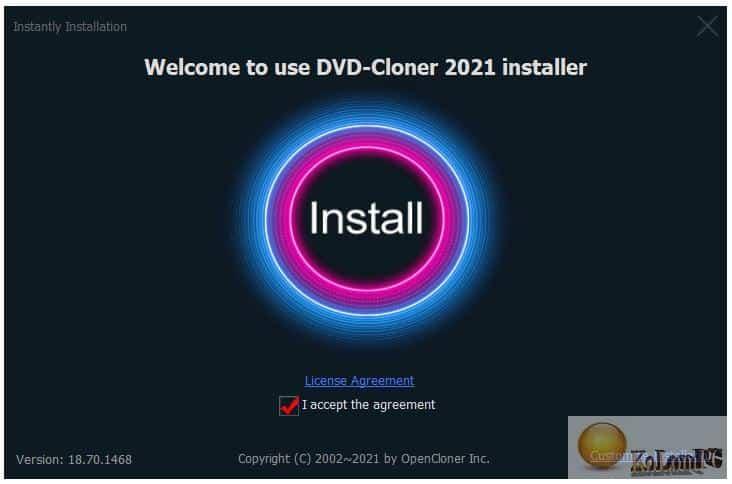 instalation of DVD-Cloner