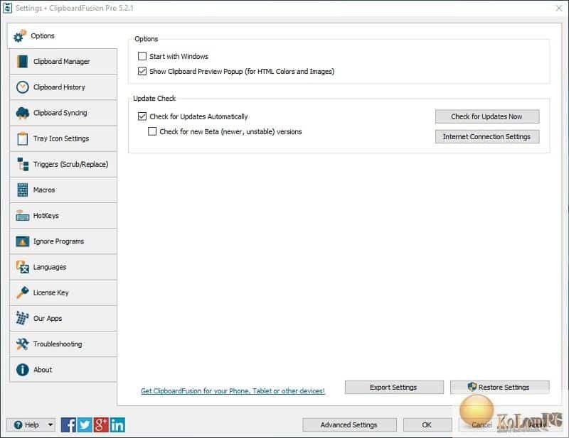 ClipboardFusion Pro settings