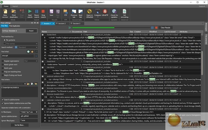 IDM UltraFinder settings